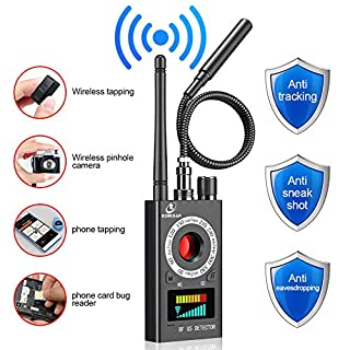 Anti Spy Detector, RF Detector & Camera Finder, Bug Detector, Upgraded RF Signal Detector, LNYOSN GSM Tracking Device for Wireless Audio Bug Hidden Camera Detector
