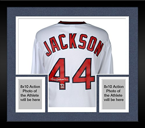 Framed Reggie Jackson Los Angeles Angels Autographed White Replica Jersey - Fanatics Authentic Certified