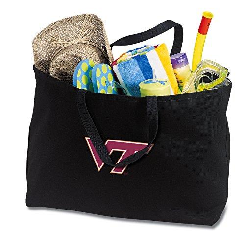 (Broad Bay Jumbo Virginia Tech Tote Bag or Large Canvas Virginia Tech Hokies Shopping Bag)