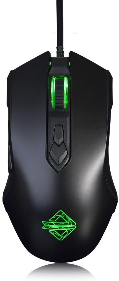 Ajazz AJ52 Watcher RGB Gaming Mouse, Programmable 7 Buttons, Ergonomic LED Backlit USB Gamer Mice Computer Laptop PC, for Windows Mac OS Linux, Black: Computers & Accessories