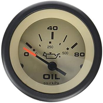 Sierra 63479P Sterling 0-80 PSI Oil Pressure Gauge