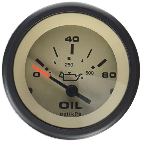 Sierra International 59705P Sahara 0 to 80 Psi Dial Range Scratch Resistant Electric Oil Pressure Gauge, 2