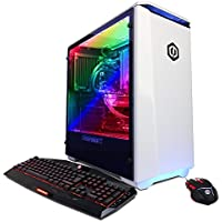 CYBERPOWERPC Gamer Master GMA4800A  Desktop Gaming PC (AMD Ryzen 5 1600X 3.6GHz, NVIDIA GTX 1070 8GB, 16GB DDR4 RAM, 120GB SSD, 1TB 7200RPM HDD & Win 10 Home), White