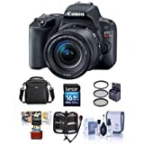 Canon EOS Rebel SL2 DSLR EF-S 18-55mm f/4-5.6 IS STM Lens Black - Bundle 16GB SDHC Card, Camera Case, 58mm Filter Kit, Cleaning Kit, Memory Wallet, Mac Software Package