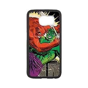 Samsung Galaxy S6 Cell Phone Case Black Hulk vs Raging Titan LV7051139