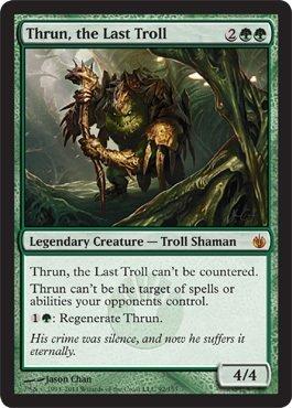 Magic: the Gathering - Thrun, the Last Troll - Mirrodin Besieged by Magic: the (Mirrodin Troll)