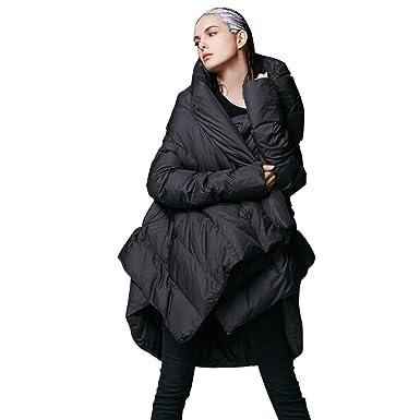 fbb45518de5 YVYVLOLO Women's Winter Jacket Cloak Loose Parka Warm Coat(FM1618-Black-M)