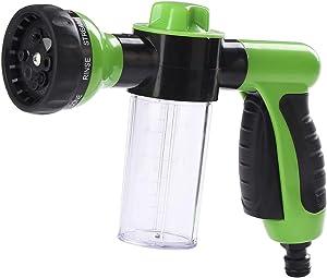 Lawnite Nozzle Foam Sprayer, 8 Spray Patterns Garden Hose Spray Nozzle , Car Wash Foam Gun, Snow Foam Lance with Soap Bottle for Car Washing, Plants Watering, Pets Showering