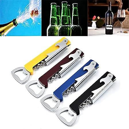 Sacacorchos de Camarero 1 Uds, Sacacorchos de Vino, sacacorchos de Acero Inoxidable, sacacorchos Multifuncional, abridor de Cerveza, sacacorchos de Vino, abridor de Botellas de Vino