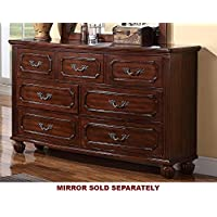 Antique Cherry Finish Dresser by Poundex