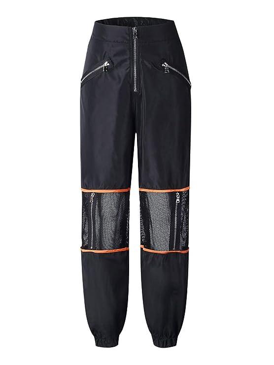 ORANDESIGNE Pantalone Largo Donna Baggy Hip Hop Harem Pants Punk Rock Lunghi  Salopette Pantaloni Cargo Ragazza Moda Jogging Sport Dance Trousers   Amazon.it  ... e3e1d494790b