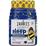 Zarbee's NaturalsChildren's Sleep with Melatonin Supplement, Mixed Fruit Flavored Gummies for Natural, Restful Sleep*, 50 Gummies (1 Bottle)