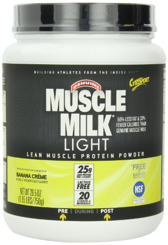 cytosport muscle milk light banana creme pound 660726593400. Black Bedroom Furniture Sets. Home Design Ideas
