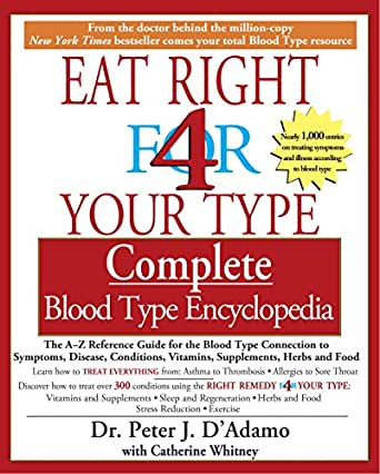 eat right your blood type chart