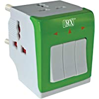 MAXCART 10 A 250 V 2500 Watts 3 PIN 3 Way Universal Conversion Plug with Individual Switch for Home and Official Use