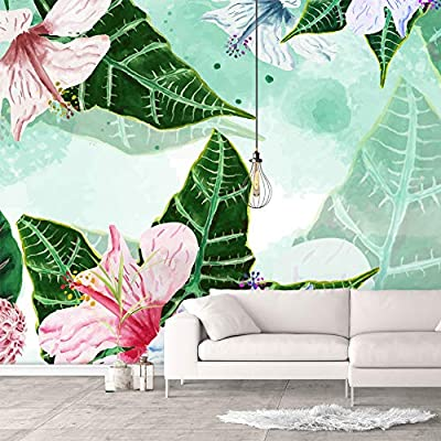 Wall Murals for Bedroom Green Plants Animals Removable Wallpaper Peel and Stick Wall Stickers, Created By a Professional Artist, Stunning Piece