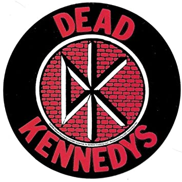 Dead kennedys round fresh fruit logo on bricks sticker decal