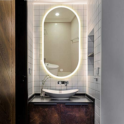 DELM 600x1000 mm Modern Illuminated LED Bathroom Mirror, Touch Switch,LED Mirror with - 1000 Mirrors 900 X Bathroom