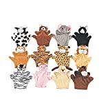 Fun Express Preschool Kindergarten Velour Animal Finger Puppets Kids Toy (1 Dozen)