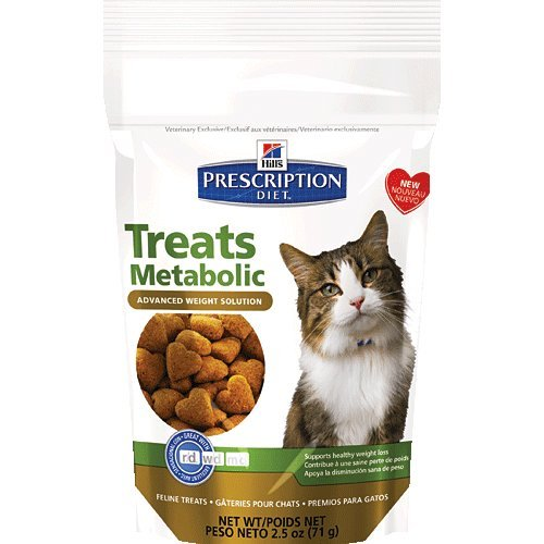 Hill's Prescription Diet Feline Metabolic Advanced Weight Solution Cat Treats 2.5 oz (4 bags)