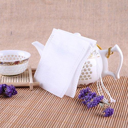 ,Pack of 200 AKOAK Disposable Drawstring Tea infusers Tea Filter Bags for Loose Tea Herbs Spice Bouquet Garni Potpourri Bags 2.3 x 3.1 6 x 8cm
