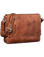 STILORD 'Davis' Messenger Bag Leder 13 inch laptop tas vintage schoudertas voor universitair bureau boek boodschappentas echt leer