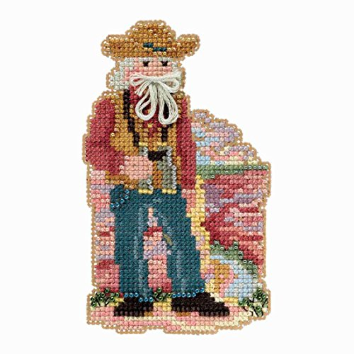 Grand Canyon Santa Beaded Counted Cross Stitch Ornament Kit
