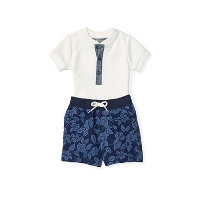 9871de89534 RALPH LAUREN Baby Boys Cotton Tee   Short Set