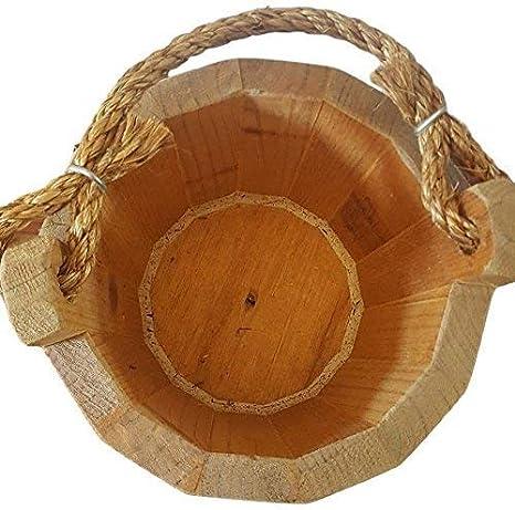 Amazon.com: Buena madera cubeta 8