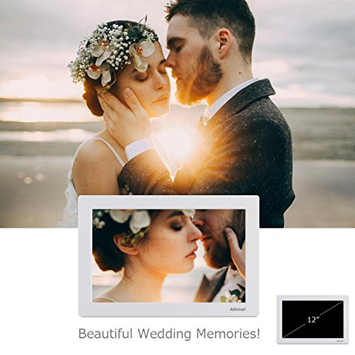 Durable Service 12 Inch Digital Photo Frame Akimart High Resolution