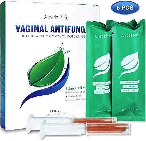 Amada Pure Yeast Infection Treatment Gel - Itch Relief Gel - PH Balance for Women - Promote Vaginal Health - 6pcs