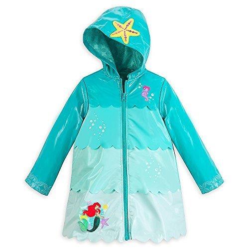Price comparison product image Disney Store Deluxe Ariel The Little Mermaid Rain Jacket Size XS 4 4T