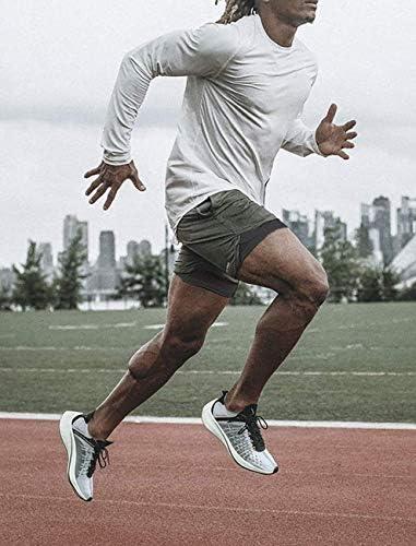 Lecoon Shorts Deportivos Hombre Pantalones Cortos para Correr 2 en 1 con Forro de Bolsillo Incorporado Secado Rápido Transpirable para Running Gym Entrenamiento 9