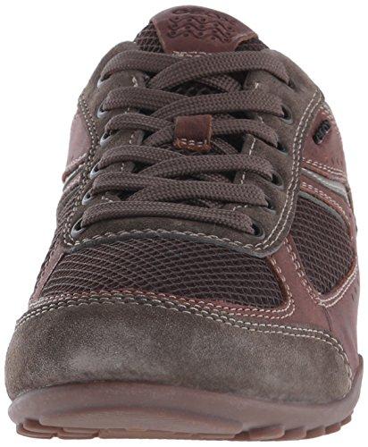 Geox Hommes U Mode Sneaker Marron / Café Cireux Cuir / Maille