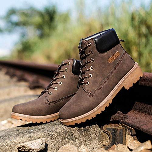 Uomo Stivaletti Foderato Classiche Inverno Elecenty Stringate In Pelliccia Stivali Caldo Invernali Boots Da Marrone Scarpe Autunno qXxdFE