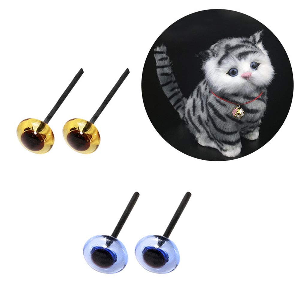 80pcs Blue 3-10cm 8Size Transparent//Light Amber Mini Glass Eyes Kits for Needle Felting Bears Dolls Decoys Sewing Crafts BESTCYC 1Box