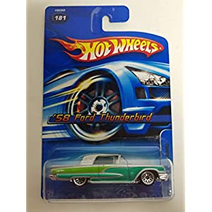 '58 Ford Thunderbird Silver and Green Color 2005 Editions Hot Wheels diecast car No. 181