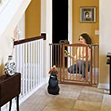 Richell One-Touch II Pet Gate Brown