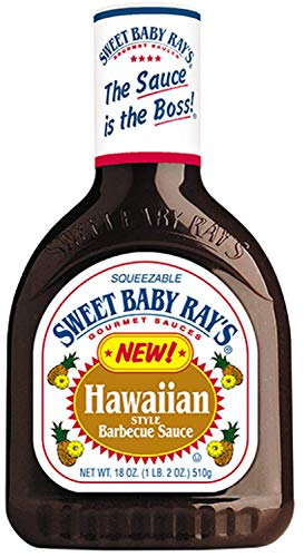 Sweet Baby Ray's, BBQ Sauces, 18-Ounce Bottle (Pack of 3) (Hawaiian)