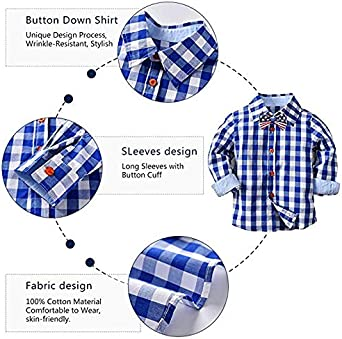 Suspender Pants Set Bow Tie 4pcs Outfits Yilaku Boys Birthday Outfit Baby Boy Suit Long Sleeve Plaid Shirts