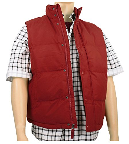 [Men's Marty McFly Puffer Vest Red (Small)] (Marty Mcfly Costumes)
