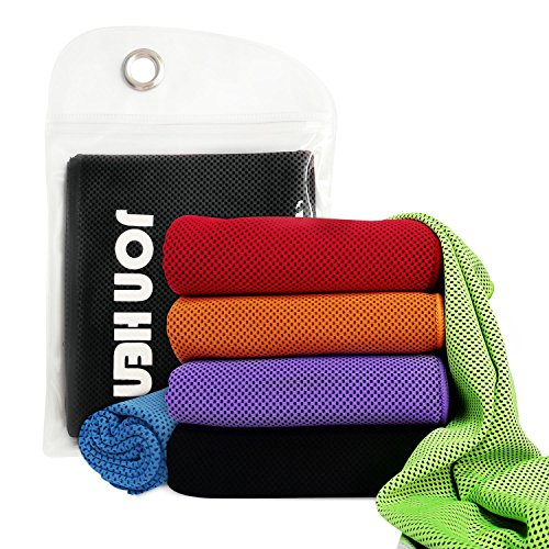 Jonhen Cooling Towel for Neck,Snap Cool Towel for Sports, Workout, Fitness, Gym, Yoga, Pilates, Travel, Camping & More