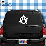 sons of anarchy car emblem - Anarchy Vinyl Decal Sticker Bumper Cling for Car Truck Window Laptop Macbook Wall Cooler Tumbler | Die-cut/No Background | Multi Sizes/Colors | by Car Decal Geek-White, 20
