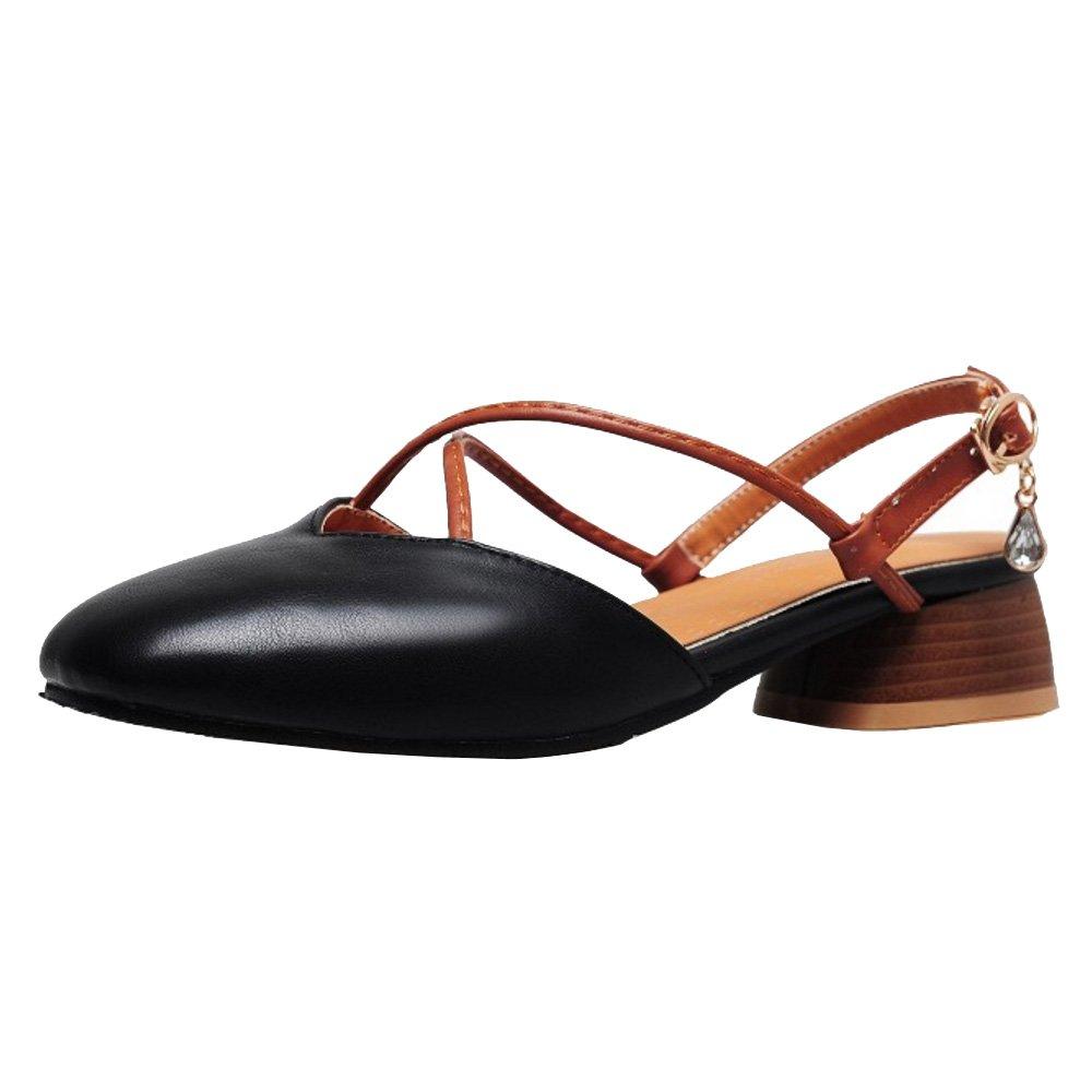5a9635c7c7947a TAOFFEN Women Block Low Heel Sandals Sandals Sandals Slingback B07CTJVVDC 1  US   21 CM