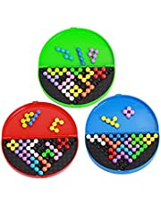 Absir Classic Pyramid Beads Plate Game Logical Mind Balls Brain Teaser Toys for Kids & Adults