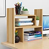 Combination bookshelf, VONOTO Desk Storage Organizer Adjustable Desktop Display Shelf Rack Multipurpose Bookshelf for Office Kitchen