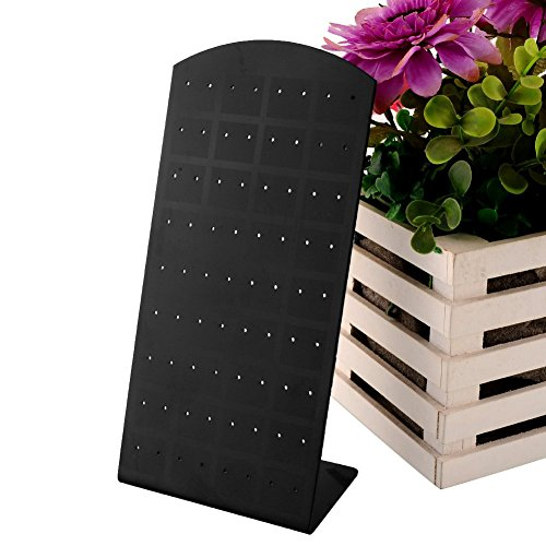 72 Holes Earrings Ear Studs Jewelry Show Plastic Display Rack Stand Organizer Holder Showcase Box 6pcs