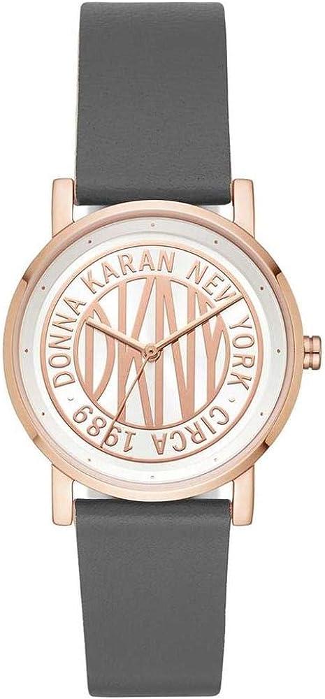 DKNY Reloj Analógico para Mujer de Cuarzo con Correa en Cuero NY2764