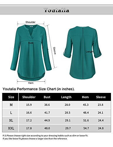 Casual Tunic Shirt,Business Casual Tops for Women Loft Clothing Pleated Front Swing Flowy Tops Prime Dressy Designer Fall Clothing Black,XL by Youtalia Direct (Image #5)