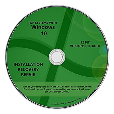Windows 10 Pro & Home 32 bit Install Reinstall Upgrade Restore Repair Recovery x86 All in One Disc WNYPC Utility DVD